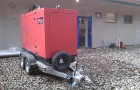 Mobilní motorgenerátor pro ČOV NEJDEK 2