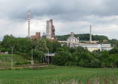 Napájecí a datové sítě v cementárnách