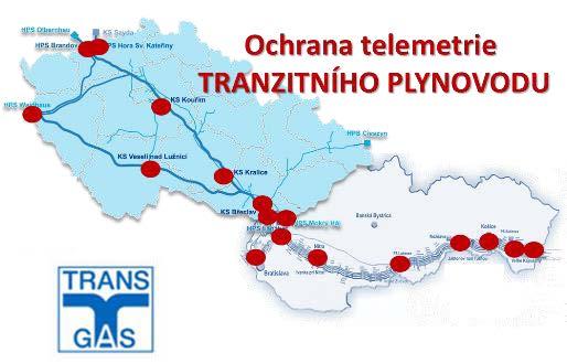 Realizace ochrany telemetrie TRANZITNÍHO PLYNOVODU 4
