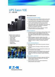 Eaton 93E CZ pdf