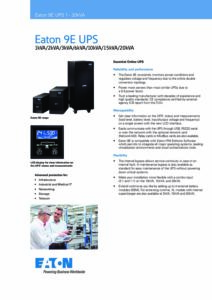 Eaton 9E CZ pdf