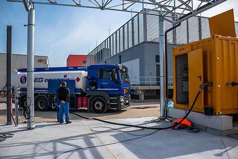 Tankování dieselagregátů