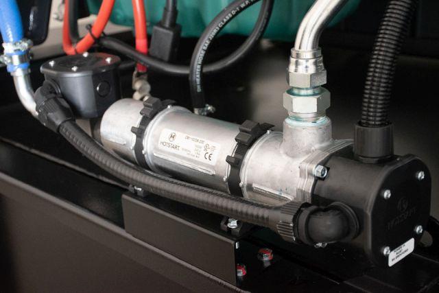 Předehřev motoru Volvo-JCB (Silektro)