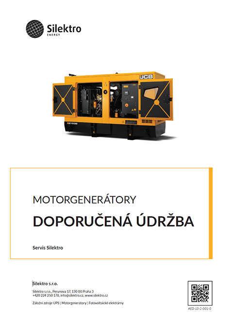 Doporučená údržba motorgenerátorů