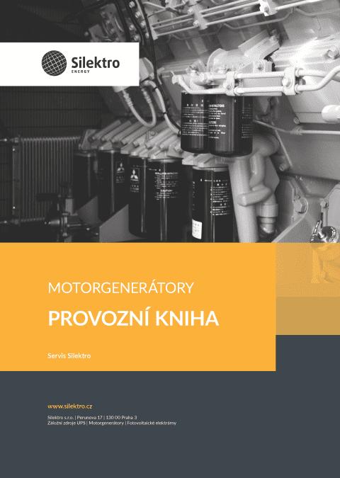 Provozní kniha motorgenerátorů