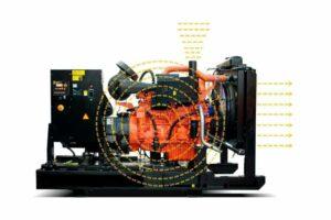 Hlavní zdroje hluku motorgenerátorů